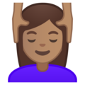 Woman Getting Massage: Medium Skin Tone on Google Android 10.0 March 2020 Feature Drop