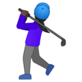 Woman Golfing: Dark Skin Tone on Google Android 10.0 March 2020 Feature Drop