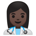 Woman Health Worker: Dark Skin Tone on Google Android 10.0 March 2020 Feature Drop