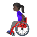 Woman in Manual Wheelchair: Dark Skin Tone on Google Android 10.0 March 2020 Feature Drop