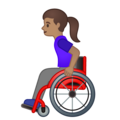 Woman in Manual Wheelchair: Medium Skin Tone on Google Android 10.0 March 2020 Feature Drop