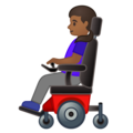 Woman in Motorized Wheelchair: Medium-Dark Skin Tone on Google Android 10.0 March 2020 Feature Drop