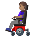 Woman in Motorized Wheelchair: Medium Skin Tone on Google Android 10.0 March 2020 Feature Drop