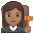 Woman Judge: Medium Skin Tone on Google Android 10.0 March 2020 Feature Drop