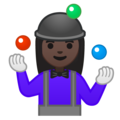 Woman Juggling: Dark Skin Tone on Google Android 10.0 March 2020 Feature Drop