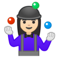 Woman Juggling: Light Skin Tone on Google Android 10.0 March 2020 Feature Drop
