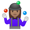 Woman Juggling: Medium Skin Tone on Google Android 10.0 March 2020 Feature Drop