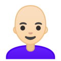 Woman: Light Skin Tone, Bald on Google Android 10.0 March 2020 Feature Drop