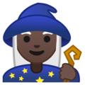Woman Mage: Dark Skin Tone on Google Android 10.0 March 2020 Feature Drop