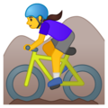 Woman Mountain Biking on Google Android 10.0 March 2020 Feature Drop