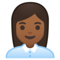 Woman Office Worker: Medium-Dark Skin Tone on Google Android 10.0 March 2020 Feature Drop