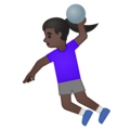 Woman Playing Handball: Dark Skin Tone on Google Android 10.0 March 2020 Feature Drop