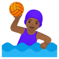Woman Playing Water Polo: Medium-Dark Skin Tone on Google Android 10.0 March 2020 Feature Drop