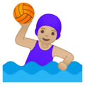 Woman Playing Water Polo: Medium-Light Skin Tone on Google Android 10.0 March 2020 Feature Drop