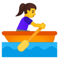 Woman Rowing Boat on Google Android 10.0 March 2020 Feature Drop