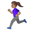 Woman Running: Medium Skin Tone on Google Android 10.0 March 2020 Feature Drop