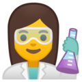 Woman Scientist on Google Android 10.0 March 2020 Feature Drop