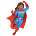 Woman Superhero: Medium Skin Tone on Google Android 10.0 March 2020 Feature Drop