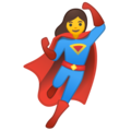 Woman Superhero on Google Android 10.0 March 2020 Feature Drop