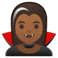 Woman Vampire: Medium-Dark Skin Tone on Google Android 10.0 March 2020 Feature Drop
