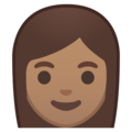 Woman: Medium Skin Tone on Google Android 10.0 March 2020 Feature Drop