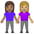 Women Holding Hands: Medium Skin Tone, Medium-Light Skin Tone on Google Android 10.0 March 2020 Feature Drop