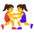 Women Wrestling on Google Android 10.0 March 2020 Feature Drop