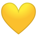 Yellow Heart on Google Android 10.0 March 2020 Feature Drop