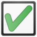 Check Box with Check on Google Android 11.0