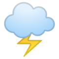 Cloud with Lightning on Google Android 11.0
