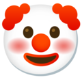 Clown Face on Google Android 11.0