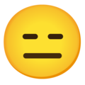 Expressionless Face on Google Android 11.0