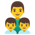 Family: Man, Boy, Boy on Google Android 11.0