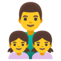 Family: Man, Girl, Girl on Google Android 11.0