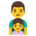Family: Man, Girl on Google Android 11.0