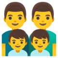 Family: Man, Man, Boy, Boy on Google Android 11.0