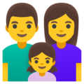 Family: Man, Woman, Girl on Google Android 11.0