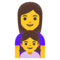 Family: Woman, Girl on Google Android 11.0