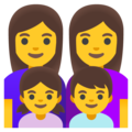 Family: Woman, Woman, Girl, Boy on Google Android 11.0