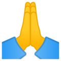 Folded Hands on Google Android 11.0