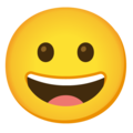 Grinning Face on Google Android 11.0
