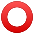 Hollow Red Circle on Google Android 11.0