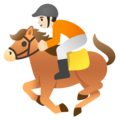 Horse Racing: Light Skin Tone on Google Android 11.0