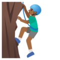 Man Climbing: Medium-Dark Skin Tone on Google Android 11.0