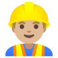 Man Construction Worker: Medium-Light Skin Tone on Google Android 11.0