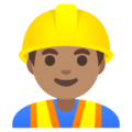 Man Construction Worker: Medium Skin Tone on Google Android 11.0