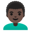 Man: Dark Skin Tone, Curly Hair on Google Android 11.0