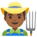 Man Farmer: Medium-Dark Skin Tone on Google Android 11.0
