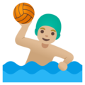 Man Playing Water Polo: Medium-Light Skin Tone on Google Android 11.0