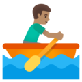 Man Rowing Boat: Medium Skin Tone on Google Android 11.0